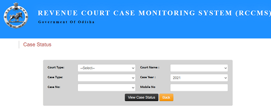 Revenue Court Case Monitoring System (Rccms)