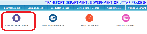 Apply for Learner Licence UP