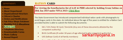 Sikkim ration Card Beneficiary List 2021