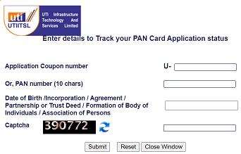पैन कार्ड की स्थिति ऑनलाइन ट्रैक करें
