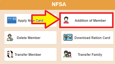 Add member in ration card